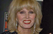 Joanna Lumley: paints billboard for charity