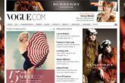 Vogue: Conde Net site