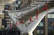 Streb bungee off the Millennium Bridge