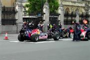 Red Bull's Mark Webber in Westminster
