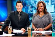 Product placement: Fox's KVVU-TV presenters enjoy a McDonald's iced coffee
