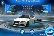 Audi: debuting on the chart with its gaming RS 3 app