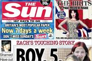The Sun: today's front page previews the Brits