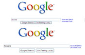 Google: unveils new search page