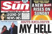 The Sun: today's front page promotes Sunday's edition