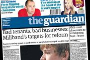The Guardian: raises cover price by 20p
