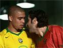 Ronaldo and Figo: signed by Nike