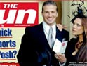 Beckham on the front page of the Sun