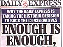 Daily Express: shifting allegiance