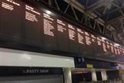 Departure screens displayed details of human rights 'departures'
