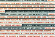 Copy-rich campaign delves into minds of people with autism