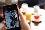 Debenhams: the department store's mobile shopping service