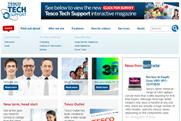 Tesco: unveils new website for in-store tech support service