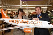 EasyJet chief executive Carolyn McCall with Sainsbury's chief executive Justin King