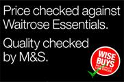 Marks & Spencer targets Waitrose with price-comparison ad