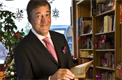 Fry: star of Marks and Spencer's festive TV ad