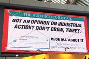 Huffington Post digital outdoor campaign