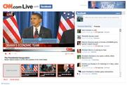 Social networking: CNN.com users offered link-up with Facebook on inauguration day