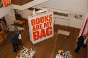 A giant bag was unveiled in Foyles' flagship