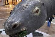 The world's longest dinosaur will be at the shopping centre today
