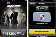 BBC Magazines: Top Gear Cool Wall iPhone app