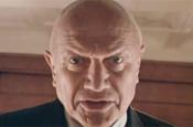 BHF ad: Berkoff portrayed having a heart attack