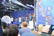 The Blue Peter team on stage