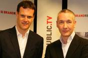 Dyble (l) and Butler: taking part in Brandrepublic TV