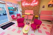 Devries Slam created a 1950s-style beauty parlour to promote the launch of Benefit's Rollerlash mascara