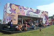 Rimmel and Elle's Beauty Cupboard activation attracted the crowds at Bestival