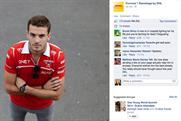 DHL: criticised for posting images of injured F1 driver Jules Bianchi on its Facebook page