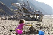 Blinkbox: promotes Game of Thrones with giant skull on a Dorset beach