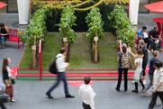 Pernod Ricard creates 'world's first' train station micro-vineyard