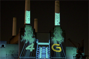 Projections onto Battersea Power Station for EE4G