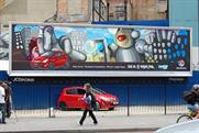 Vauxhall Corsa: graffiti poster designed by Facebook competition winner