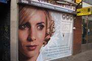 Streetskins provides adspace on empty shops