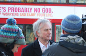 Dawkins: supporting the atheist bus campaign
