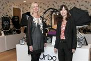 US launch: Claire Harper of Mamas & Papas with Sheila Leyne of Mullen