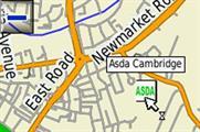 Asda brand on satnav map
