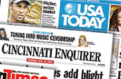 Gannett: debt rating cut to junk status