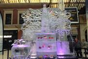Ice sculpture added buzz to the Carling British Cider campaign