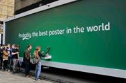 Experiential campaign: Carlsberg's beer billboard in Shoreditch, London