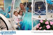 Fantasy Imaging delivered a Cinderella photo booth experience at four shopping destinations