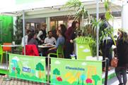 Guests at The Co-operative Food's pop-up at Observation Point