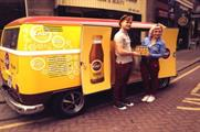 The vintage van will be used for sampling