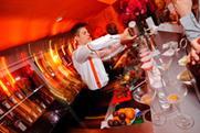 Bar staff serve up Cointreau cocktails at the Privé pop-up