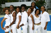 The cast of BET show College Hill
