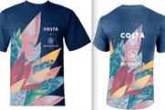 Costa has designed new shirts for its baristas to support the summer campaign