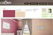 Crown website: visitors can 'paint' rooms and order samples