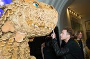 Behind the scenes: Warburtons giant crumpet dinosaur